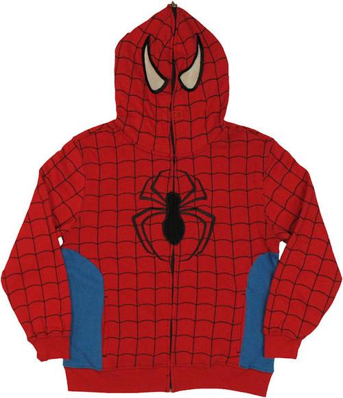 Spiderman Hood Zip Youth Hoodie