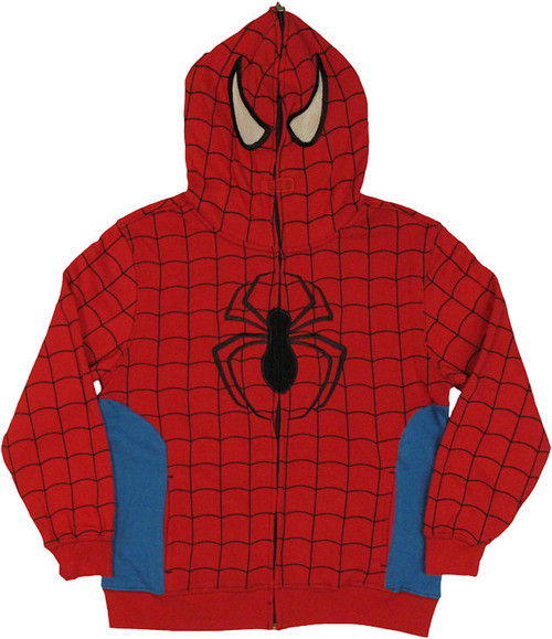Spiderman Hood Zip Youth Hoodie
