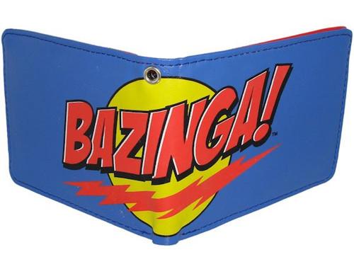 Big Bang Theory Bazinga Blue Wallet