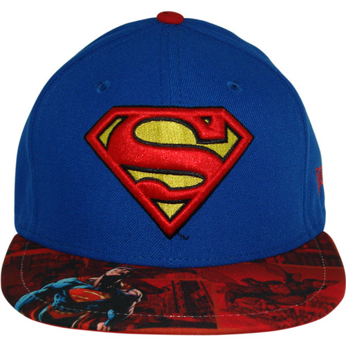 Superman Comic Visor 59Fifty Hat