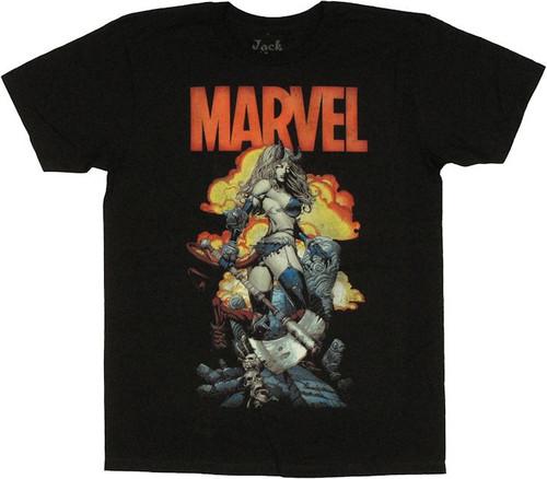 X Men Darkchilde X Infernus Cover T Shirt Sheer