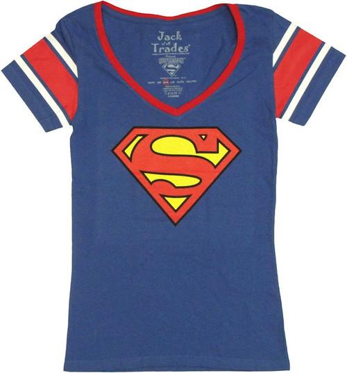 Superman Logo Jersey Baby Tee