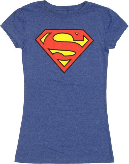 Superman Logo Heather Baby Tee