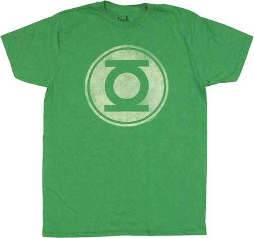 Green Lantern Vintage Logo Heather T Shirt Sheer