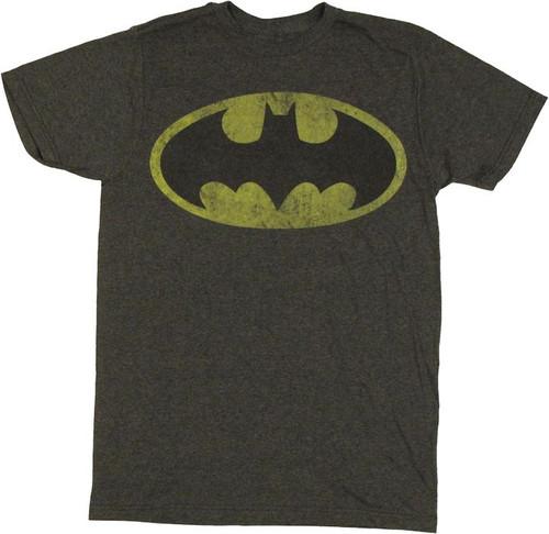 Batman Vintage Classic Logo T Shirt Sheer