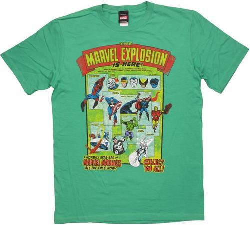 Marvel Explosion T Shirt Sheer