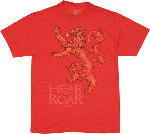 Game of Thrones Lannister Roar T Shirt Sheer