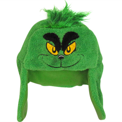 Dr Seuss Grinch Plush Trapper Beanie f6982080b48