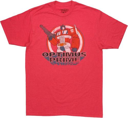 Transformers Optimus Prime Circled T Shirt Sheer