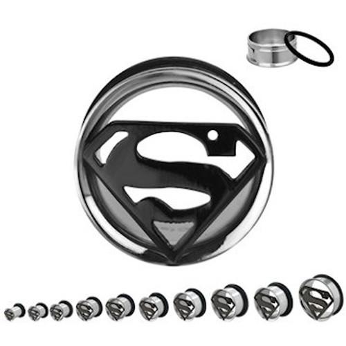 Superman Die Cut Steel Plugs