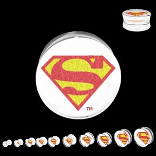 Superman Clear Acrylic Saddle Plugs