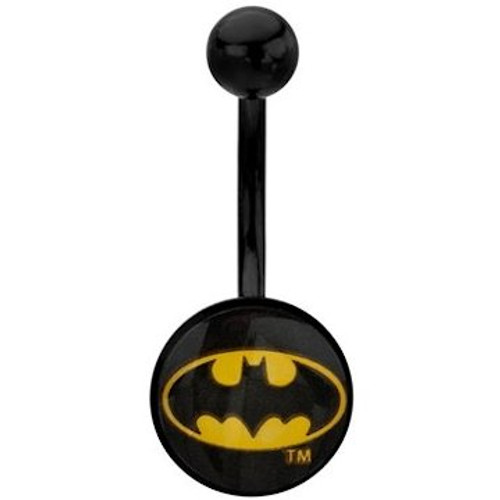Batman Oval Logo Belly Ring