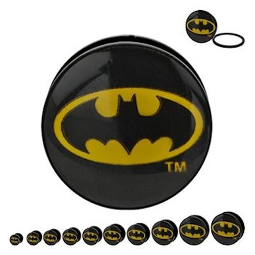 Batman Oval Logo Acrylic Plugs