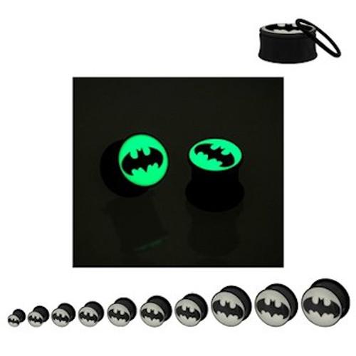 Batman Glow Logo Acrylic Plugs
