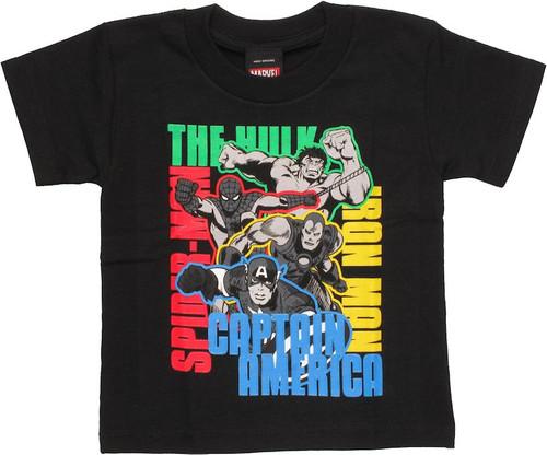 Avengers Color Names Toddler T Shirt