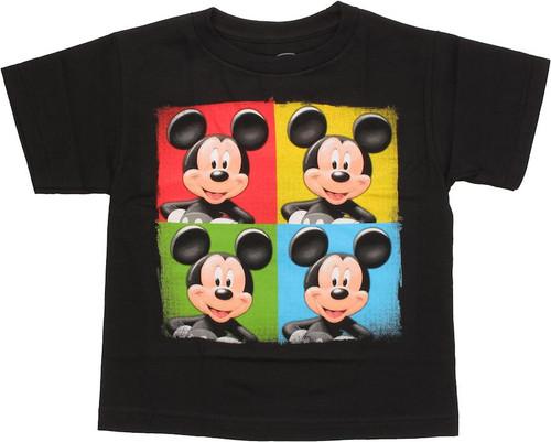 Mickey Mouse Color Quadrants Juvenile T Shirt