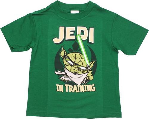 Star Wars Yoda Training Toon Toddler T Shirt