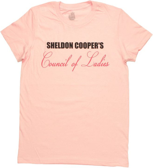 Big Bang Theory Council Ladies Baby Tee