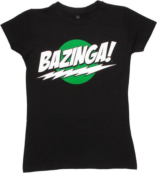 Big Bang Theory Bazinga Glow Baby Tee
