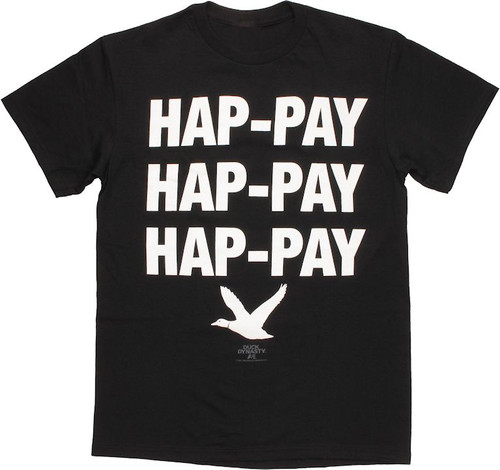 Duck Dynasty Hap-Pay Black T Shirt