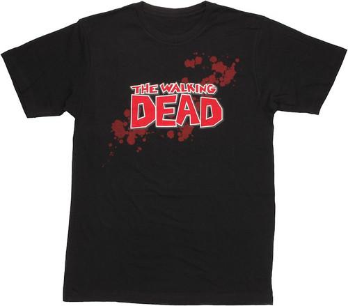 Walking Dead Comic Logo T Shirt Sheer