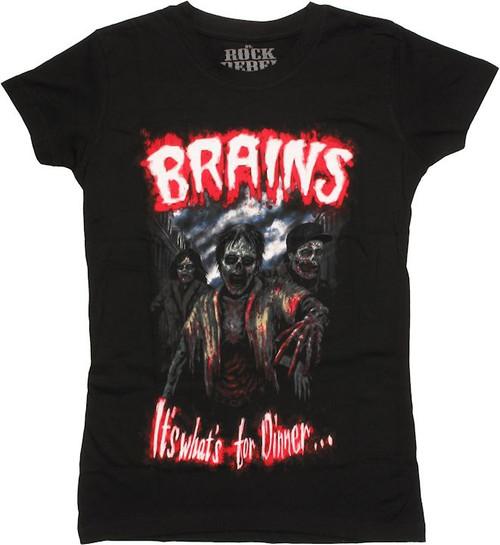 Zombies Brains Dinner Baby Tee