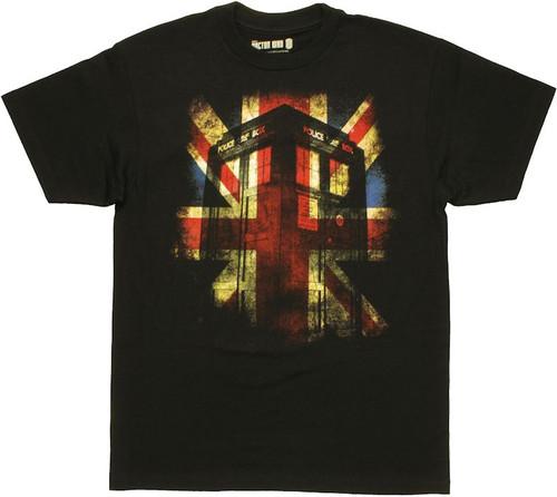 Doctor Who Union Jack TARDIS T Shirt