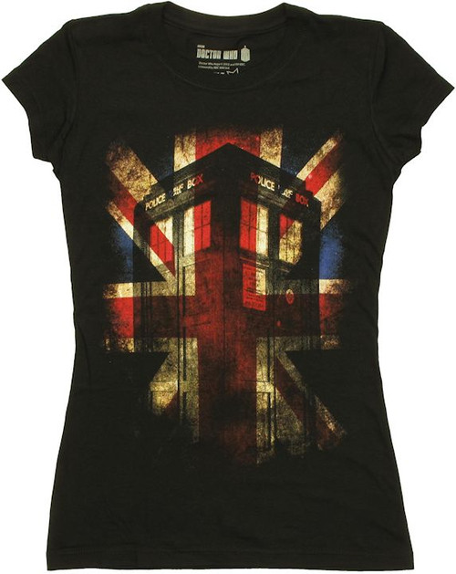Doctor Who Union Jack TARDIS Baby Tee