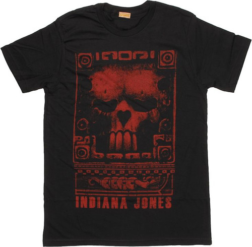 Indiana Jones Skull Carving T Shirt Sheer