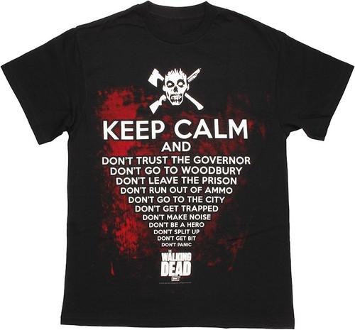 Walking Dead Keep Calm T Shirt 524b84145a