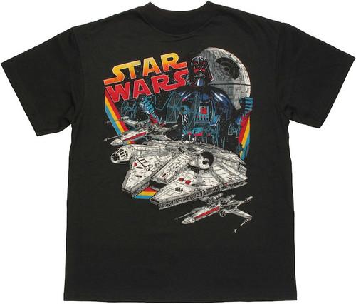 Star Wars Vader Ships Youth T Shirt