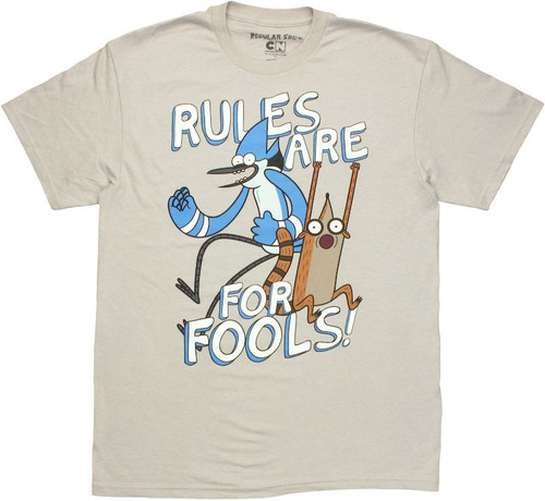 Regular Show Rules Fools T Shirt