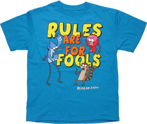 49247ddf5 Regular Show Rules Fools Youth T Shirt youth-t-shirt-regular-show -rules-fools