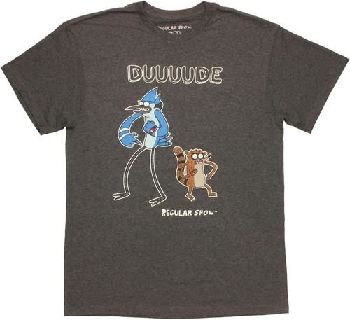 Regular Show Duuuude Heather T Shirt