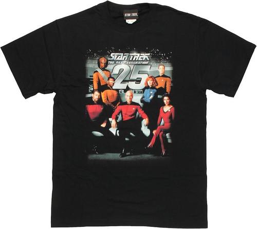 Star Trek TNG 25 Cast T Shirt