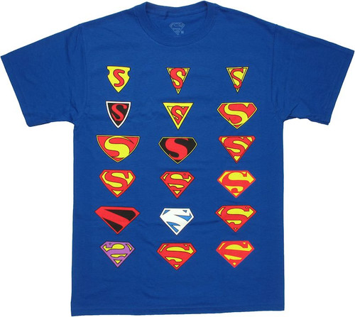 Superman Logo History T Shirt