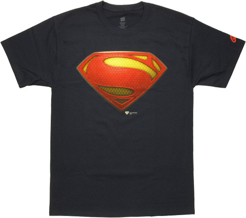 Superman Man of Steel Logo T Shirt