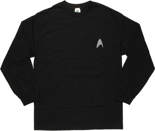 Star Trek Darkness Insignia Long Sleeve T Shirt
