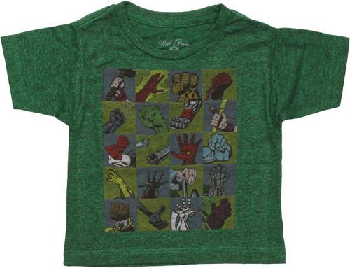 Marvel Hero Hands Infant T Shirt