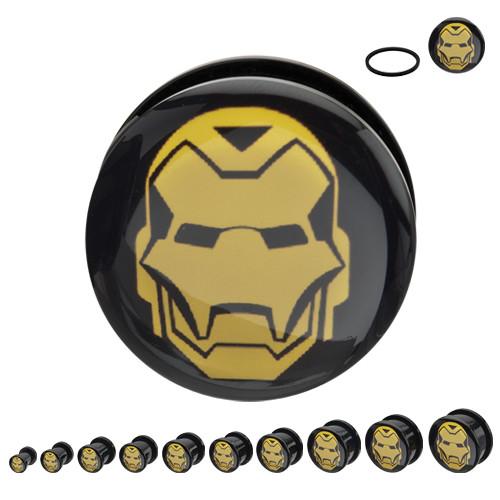 Iron Man Acrylic Plugs