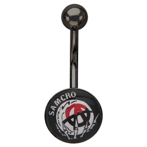 Sons of Anarchy Crystal Ball Belly Ring