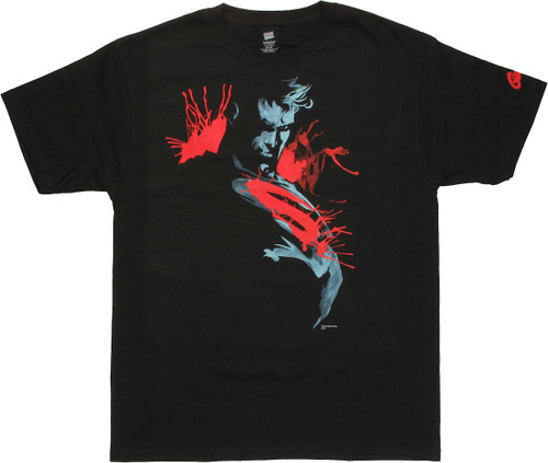 Superman Man of Steel Painting T Shirt