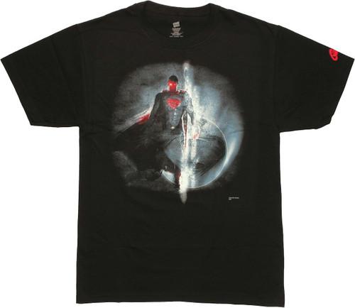 Superman Man of Steel Space T Shirt