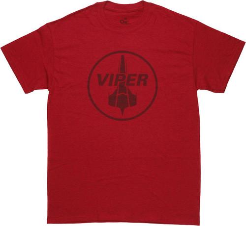 Battlestar Galactica RAPTOR BADGE Licensed Adult T-Shirt All Sizes