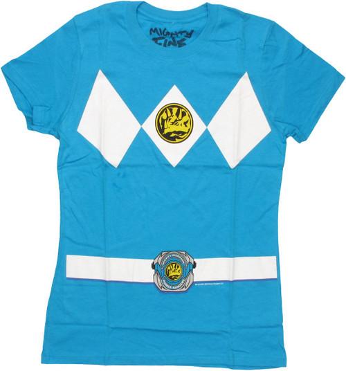 Power Rangers Blue Baby Tee