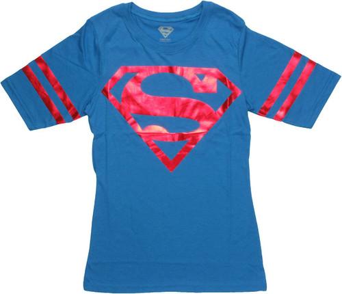 Superman Foil Jersey Baby Tee