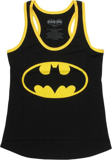 Batman Logo Ringer Tank Top Baby Tee