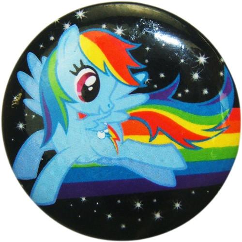 My Little Pony Rainbow Dash Space Button