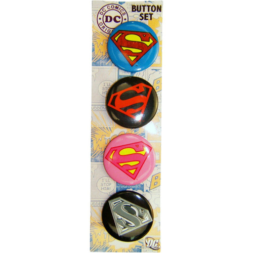 Superman Logos Button Set