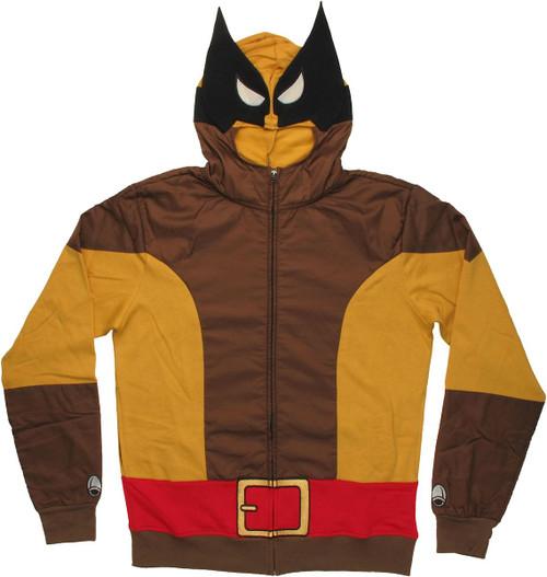 Wolverine Brown Costume Hoodie